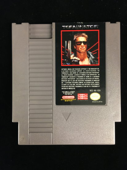 NES Nintendo The Terminator Video Game Cartridge