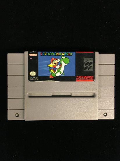 SNES Super Nintendo Super Mario World Video Game Cartridge