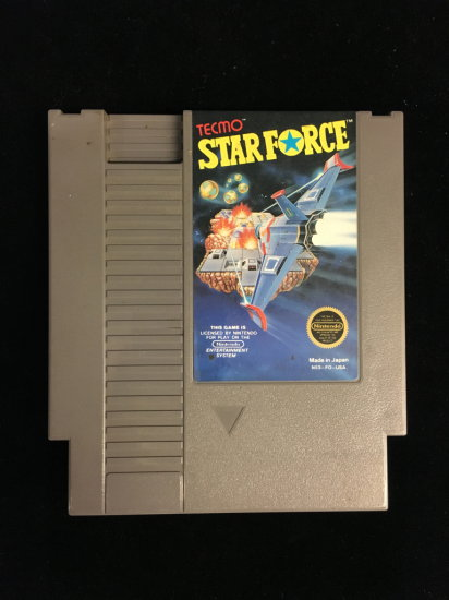 NES Nintendo Tecmo Star Force Video Game Cartridge