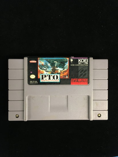 SNES Super Nintendo P.T.O. Pacific Theater of Operations Video Game Cartridge
