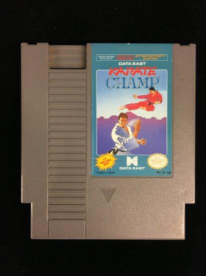 NES Nintendo Karate Champ Video Game Cartridge