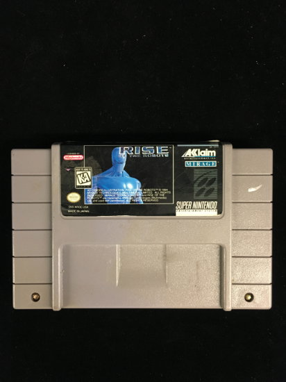 SNES Super Nintendo Rise of Robots Video Game Cartridge