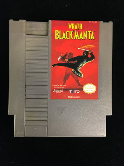 NES Nintendo Wrath of the Black Manta Video Game Cartridge