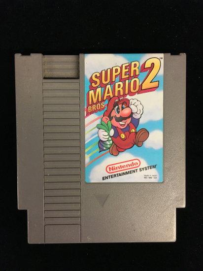 NES Nintendo Super Mario Bros. 2 Video Game Cartridge