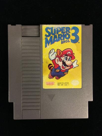 NES Nintendo Super Mario Bros. 3 Video Game Cartridge