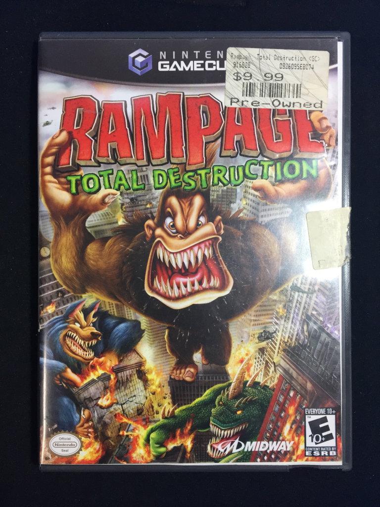 Nintendo Gamecube Rampage Total Destruction Video Game Computers