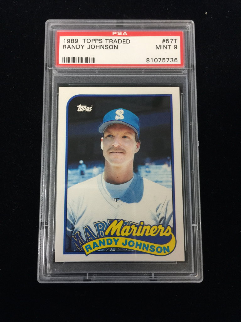 Lot Psa Graded 1989 Topps Traded Randy Johnson Rookie Card