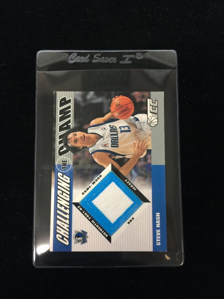 ad0e3bdc89f 2002-03 Topps TCC Steve Nash Mavs Game Used Jersey Basketball Card