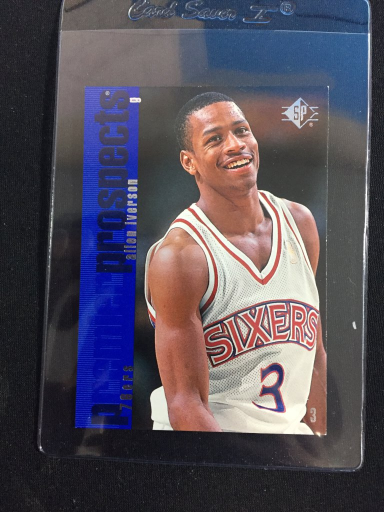 outlet store e4596 47464 Lot: 1996-97 SP Allen Iverson 76ers Rookie Basketball Card ...