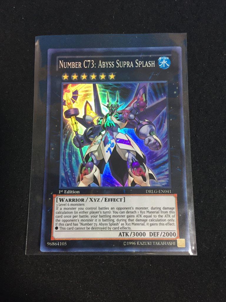 96bd1b0466b2 Lot  Holo Yu-Gi-Oh Card - XYZ Number C73  Abyss Supra Splash DRLG ...
