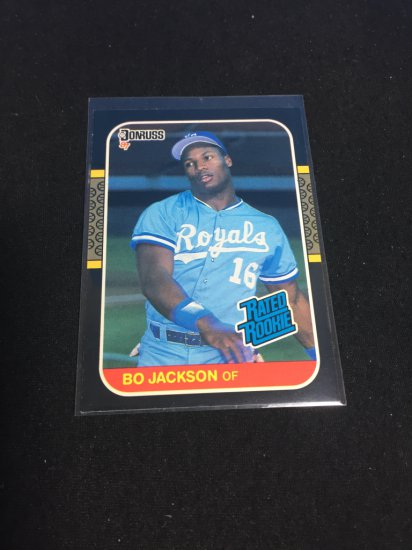 1987 Donruss Bo Jackson Royals Rookie Card Art Antiques