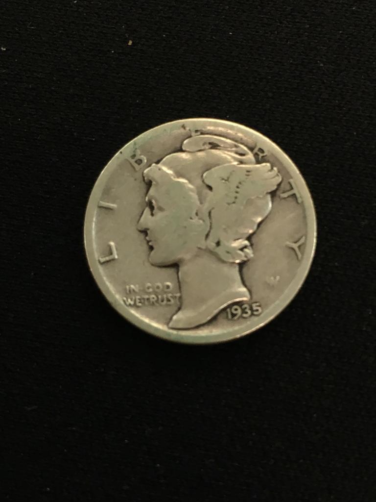 5/27 NOONER Mercury Dime & Quarter Auction