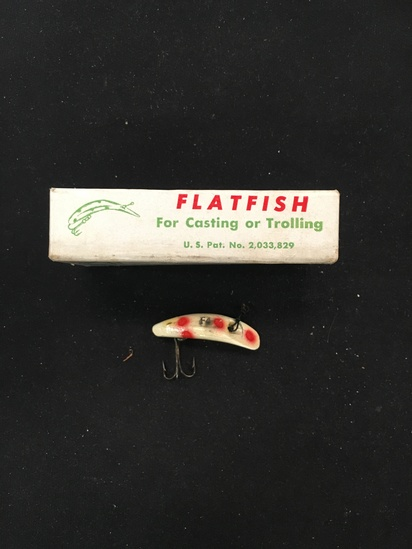 Vintage Flatfish Fishing Lure - Helin Tackle Company - Fly