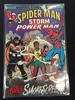Spider-Man, Storm, And Power Man Battle Smokescreen-Marvel Comic Book