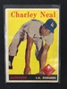 1958 Topps #16 Charley Neal Dodgers Vintage Baseball Card