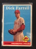 1958 Topps #76 Dick Farrell Phillies Vintage Baseball Card