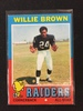 1971 Topps #207 Willie Brown Raiders Vintage Football Card