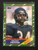 1986 Topps #11 Walter Payton Bears Football Card