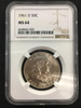 NGC Graded 1961-D 50C Franklin Silver Half Dollar Coin - MS 64
