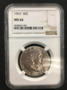 NGC Graded 1963 50C Franklin Silver Half Dollar Coin - MS 64