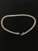 "Classic 8"" Sterling Silver Rhinestone Tennis Bracelet"