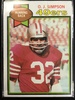 1979 Topps #170 O.J. Simpson 49ers Vintage Football Card