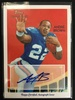 2009 Topps National Chicle Andre Brown Giants Rookie Autograph Football Card