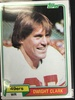 1981 Topps #422 Dwight Clark 49ers Rookie Football Card