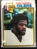 1979 Topps #390 Earl Campbell Oilers Rookie Vintage Football Card