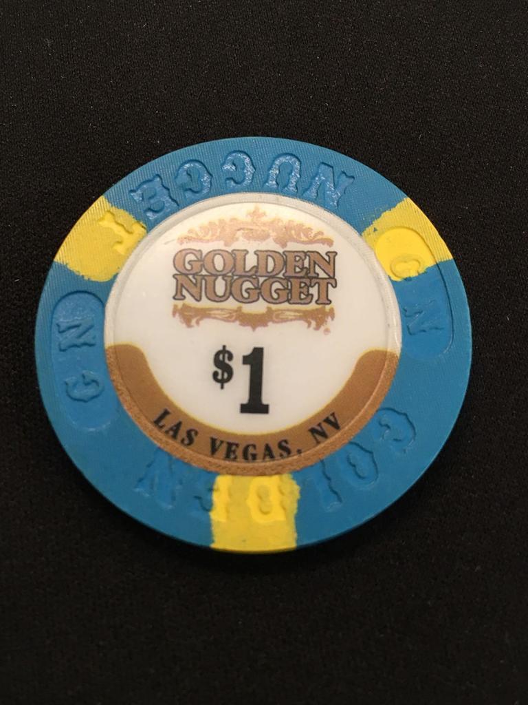 GOLDEN NUGGET  LAS VEGAS  CASINO $1   HOUSE  CHIP