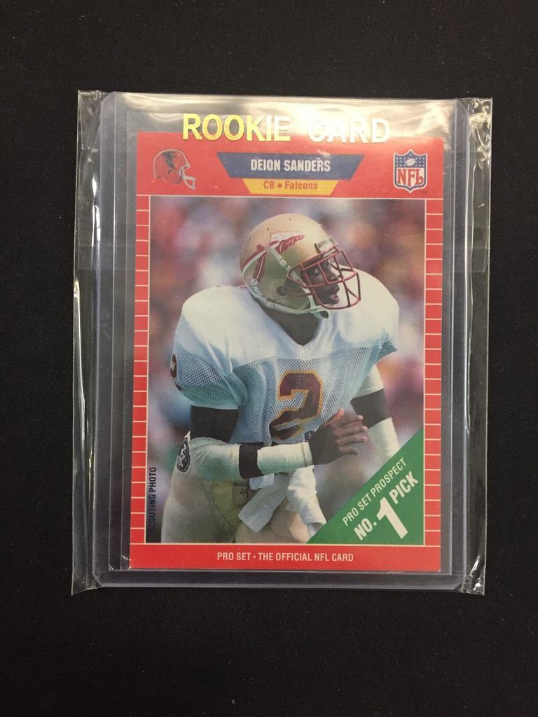 Lot 1989 Pro Set Deion Sanders Cowboys Rookie Football Card