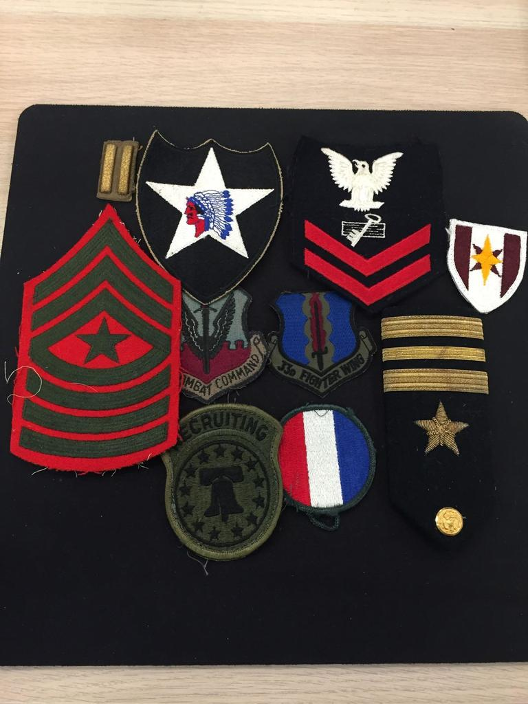 Lot: Huge Lot of Rare Vintage Military Patches, Armboards