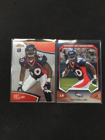 2 Count Lot Of 2011 Von Miller Denver Broncos Rookie Cards