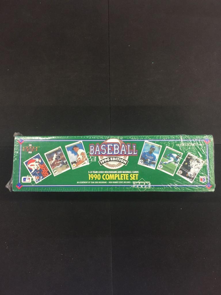 Lot Sealed 1990 Upper Deck Mlb Baseball Complete Set Proxibid