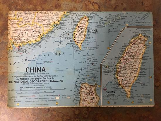 National Geographic Map Of China.National Geographic Map Of Chi Auctions Online Proxibid