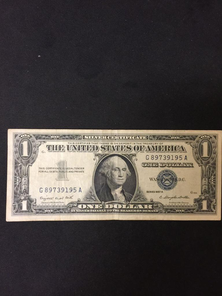 Lot 1957 A United States 1 Washington Silver Certificate Bill