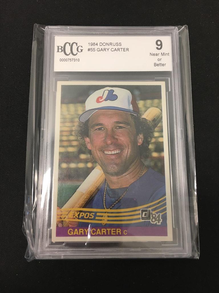Lot Bccg Graded 1984 Donruss Gary Carter Expos Baseball Card 9