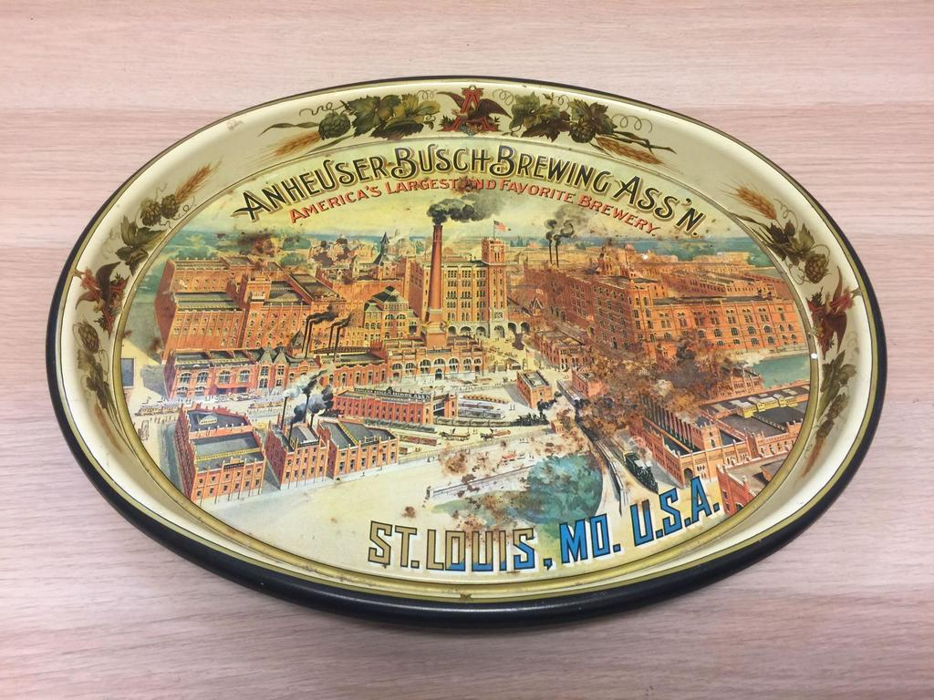 Vintage Anheuser Busch Brewing Ass N St Louis Mo Usa Decorative Tray Art Antiques Collectibles Collectibles Auctions Online Proxibid