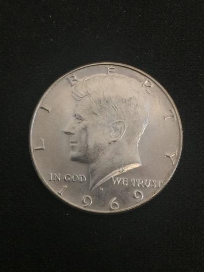 1969-D United States Kennedy Half Dollar - 40% Silver Coin