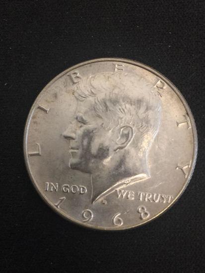 1968-D United States Kennedy Half Dollar - 40% Silver Coin