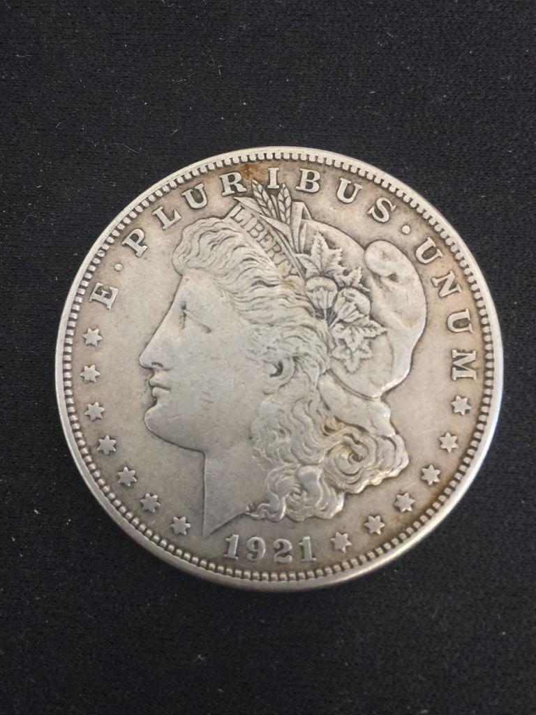 1921-S United States Morgan Silver Dollar - 90% Silver Coin