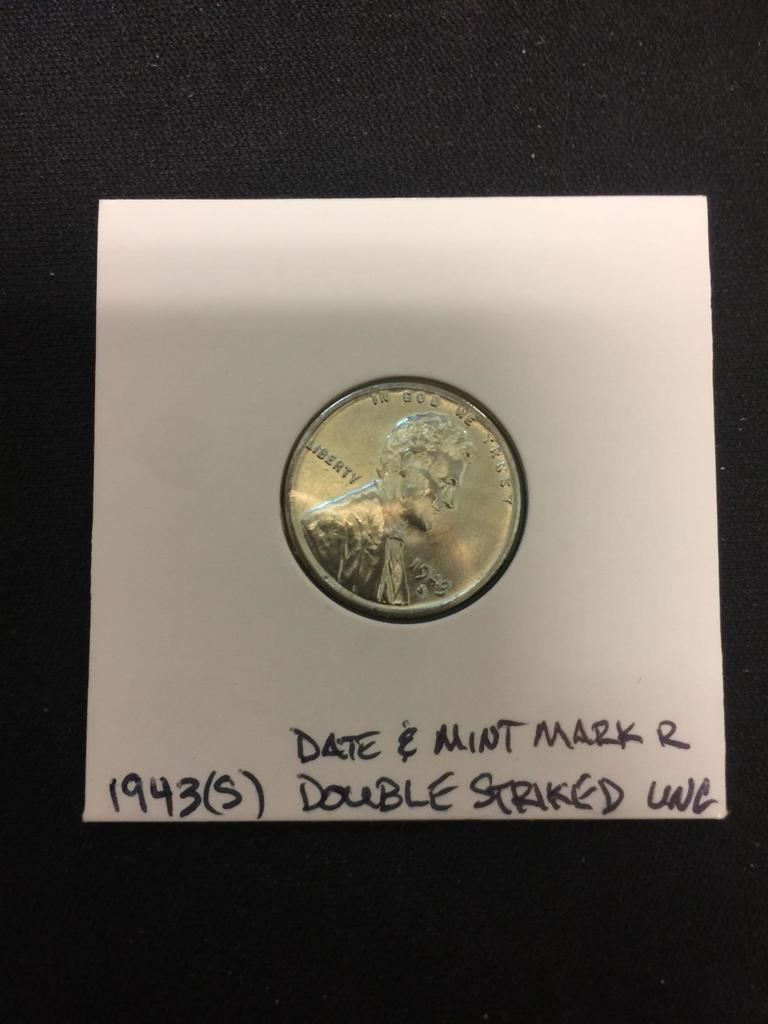 Lot: 1943-S United States Lincoln WWII Emergency Steel Wheat