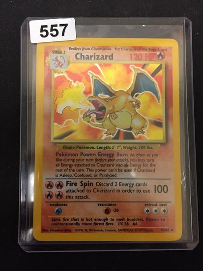 Pokemon Charizard Base Set Holofoil Rare Card 4/102