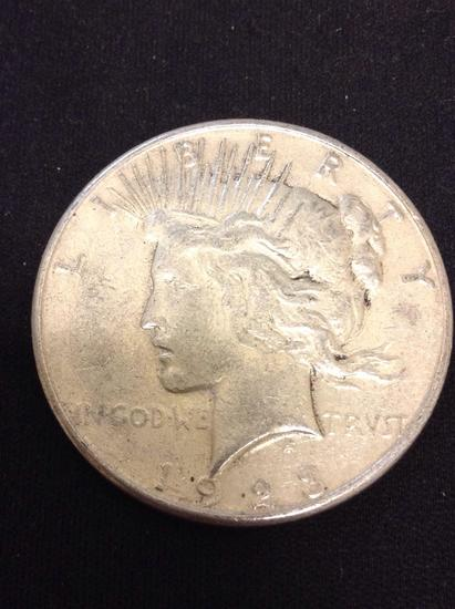 1923-S United States Peace Silver Dollar - 90% Silver Coin from Collection