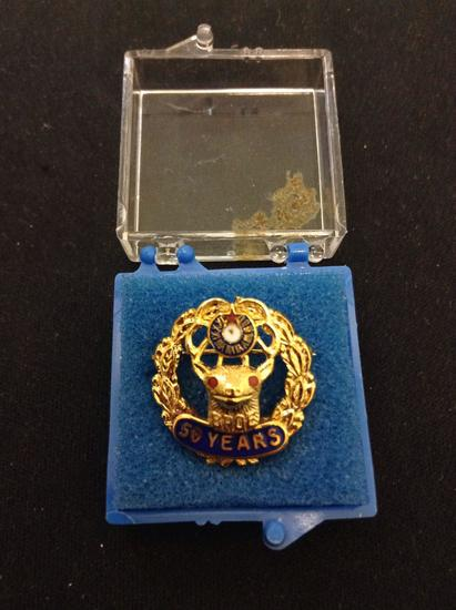 Rare Vintage BPOE 50 Year Anniversary Pin from Estate