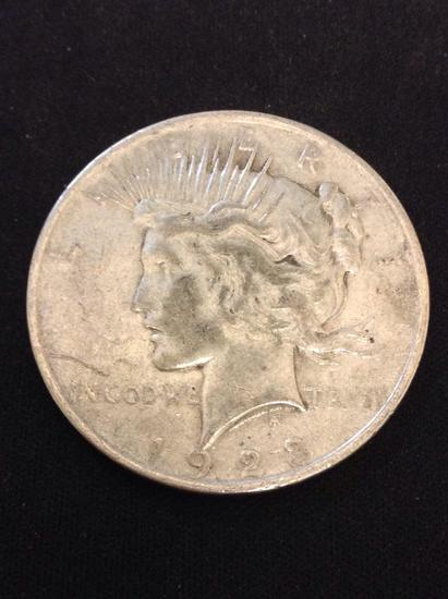 1923 United States Peace Silver Dollar - 90% Silver Coin from Collection