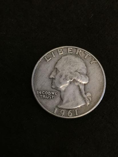 1961-D United States Washington Quarter - 90% Silver Coin