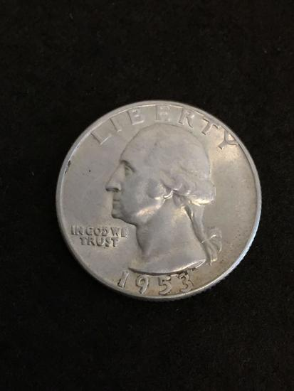 1953-S United States Washington Quarter - 90% Silver Coin