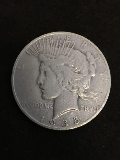 Key Date! 1935-S United States Peace Silver Dollar - 90% Silver Coin