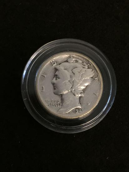 1941 United States Mercury Dime - 90% Silver Coin